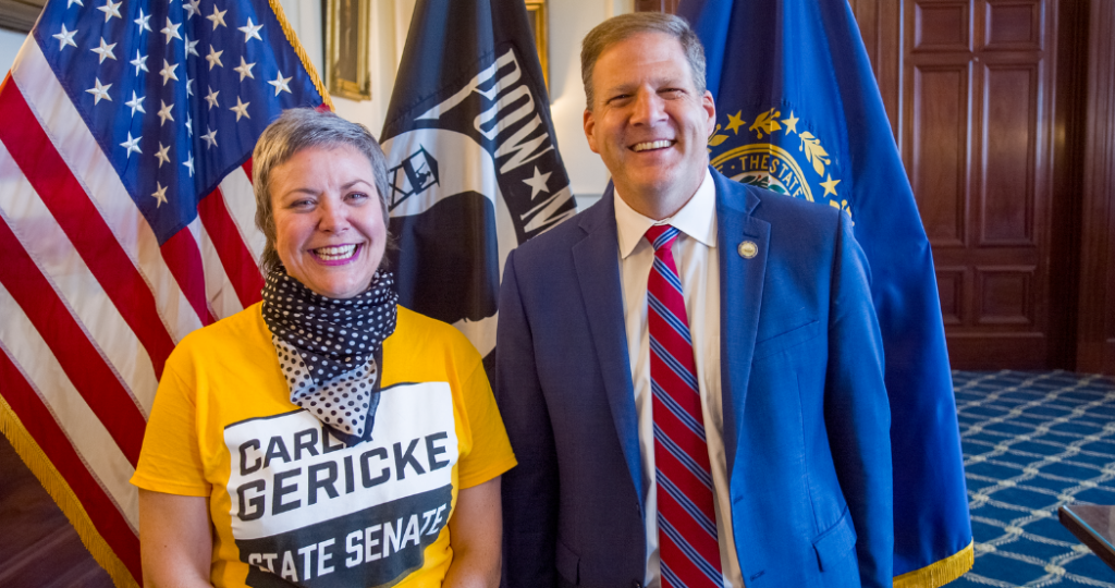 Chris Sununu and Free Stater Secessionist Carla Gericke campaign photo